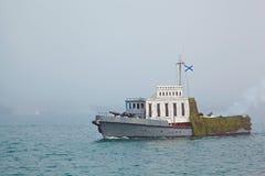 SEVASTOPOL UKRAINA -- MAJ 12: Fira 230 år av den Black Sea flottan på Maj 12, 2013 Arkivfoton