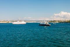 SEVASTOPOL, UKRAINE - AUGUST 24. Ship Adriana Royalty Free Stock Image