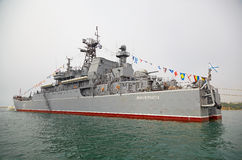 SEVASTOPOL, UKRAINE -- MAY 12: Large Landing Ship 'Novocherkassk. ' Black Sea Fleet. Celebrating 230 years of the Black Sea Fleet on May 12, 2013 Royalty Free Stock Photography