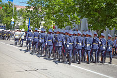 SEVASTOPOL, UKRAINE -- MAY 9: Victory Parade. Royalty Free Stock Photos