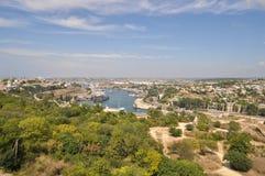 Sevastopol, widok od ferris koła Zdjęcie Stock