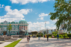 Sevastyanov's House - Historical building in neo-gothic style in. YEKATERINBURG, RUSSIA - JUNE 05: Sevastyanov's House - Historical building in neo-gothic style Stock Image