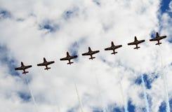 Seven Aircrafts at Airshow Royalty Free Stock Images
