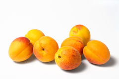 Seven apricots Royalty Free Stock Photos