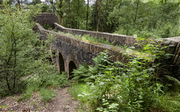 Seven arched bridge at Rivington Terraced Gardens royalty free stock image