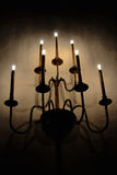 Seven arm sconce Royalty Free Stock Photo
