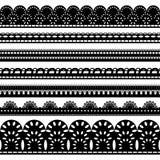 Seven black ribbons Stock Photos