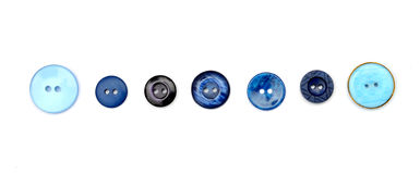 Seven blue buttons Stock Images