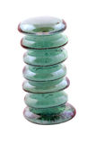 Seven blue glass stones stacked Stock Photography