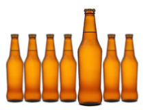 Seven bottles Stock Photography