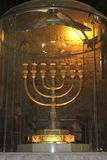 Seven-branched candelabrum used in the Temple. A photographic view of seven-branched candelabrum used in the Temple Jerusalem old city Stock Image