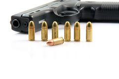 Seven  bullets gun Royalty Free Stock Image