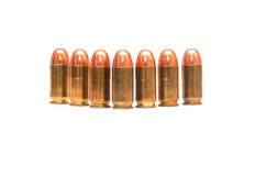 Bullets. Seven bullets on white background Royalty Free Stock Image