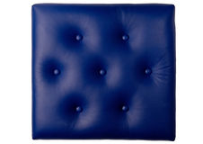 Seven button padded blue leather board Royalty Free Stock Images