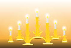 Seven candles Stock Images