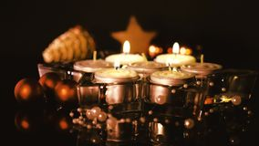Light the fourth candle stock footage