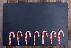 Seven candy canes Royalty Free Stock Photography