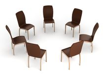 Seven chairs Royalty Free Stock Photography