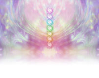 Seven Chakra Vortex Website Banner stock photos