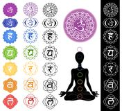 Seven chakras stock illustration