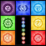 Seven Chakras collage Stock Photo