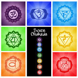 Seven Chakras collage Royalty Free Stock Images