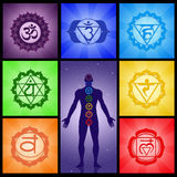 Seven Chakras collage. Illustration of Seven Chakras collage Stock Illustration