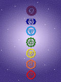 Seven Chakras Stock Photography