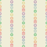 Seven chakras icons seamless pattern.Yoga,meditation,reiki Stock Photo