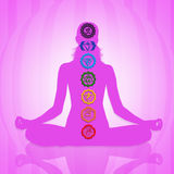 Seven Chakras. Illustration of Seven Chakras symbol Stock Illustration