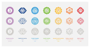 The seven chakras Stock Image