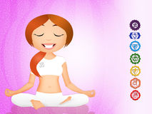 Seven Chakras symbol Stock Photo