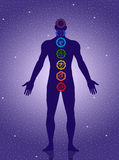 Seven Chakras symbol Royalty Free Stock Photo