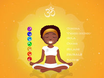 Seven Chakras symbols Royalty Free Stock Photography