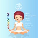 Seven Chakras symbols Royalty Free Stock Image