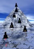 Seven chakras up to the mountain Royalty Free Stock Image