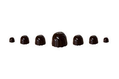 Seven chocolate sweets Stock Photos