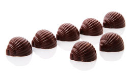 Seven chocolates candy Stock Photos