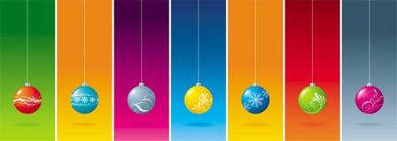 Seven christmas ball Stock Photography