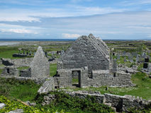 Seven Churches Monastery Inishmore Ireland Stock Photo