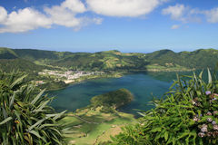 Seven Cities Lake - Azores royalty free stock image
