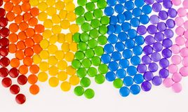 Seven Color Chocolate Rainbow Stock Photography