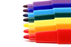 Seven color pens Stock Photography