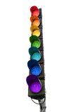 Seven-color rainbow traffic light Royalty Free Stock Images