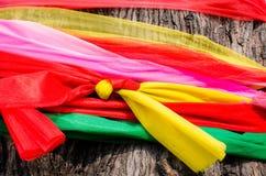 Seven color satin on tree, faithful in thai Stock Image