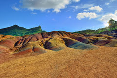 Seven colored land. Mauritius Royalty Free Stock Photo