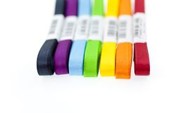 Seven colored ribbons Stock Images