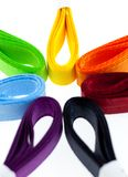 Seven colored ribbons Stock Photo
