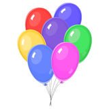 Seven Colorful balloons Stock Photos