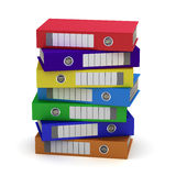 Seven Colorful File Folders. Isolated on white Stock Image
